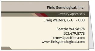 Finis Business Card